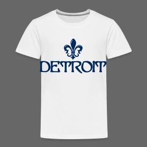 Fleur De Lis Detroit Toddler T-Shirt - Toddler Premium T-Shirt