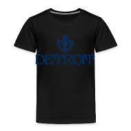 Baby & Toddler Shirts ~ Toddler Premium T-Shirt ~ Fleur De Lis Detroit Toddler T-Shirt