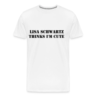 T-Shirts ~ Men's Premium T-Shirt ~ Lisa Thinks I'm Cute! (Guys)