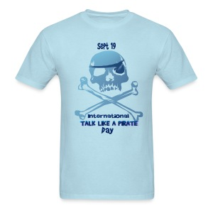 Talk Like A Pirate Skull And Crossbones - Men's T-Shirt