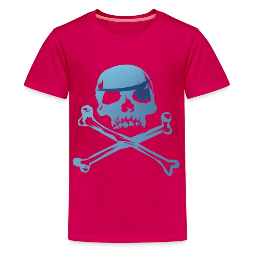Blue Pirate Skull And Crossbones - Kids' Premium T-Shirt