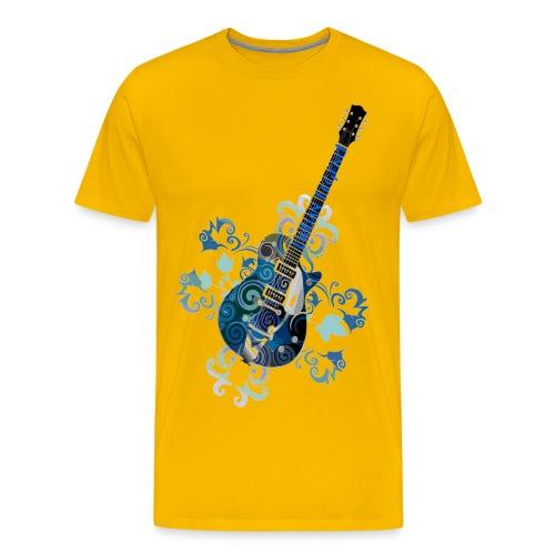 Urban Legend Grunge Guitar with Logo on Neck of Guitar - Men's Premium T-Shirt