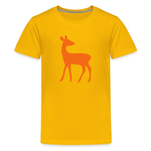 t-shirt deer fawn elk moose stag game wild animal timid bambi forest - Kids' Premium T-Shirt