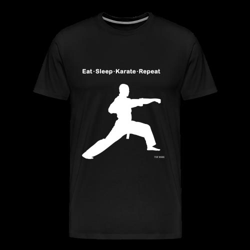 Eat Sleep Karate Repeat - Men's Premium T-Shirt