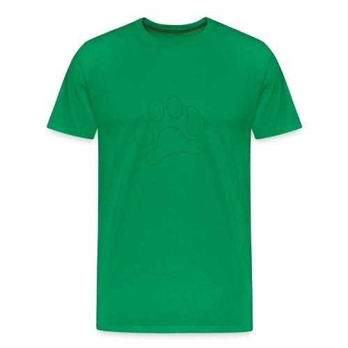 t-shirt lynx cat cougar paw cheetah animal track hunt hunter hunting - Men's Premium T-Shirt