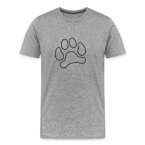 t-shirt lynx cat cougar paw cheetah animal track hunt hunter hunting - Men's Premium T-Shirt