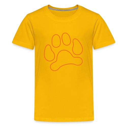 t-shirt lynx cat cougar paw cheetah animal track hunt hunter hunting - Kids' Premium T-Shirt