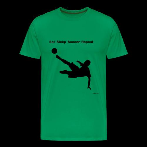 Eat Sleep Soccer Repeat - Men's Premium T-Shirt