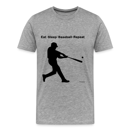 Eat Sleep Baseball Repeat - Men's Premium T-Shirt