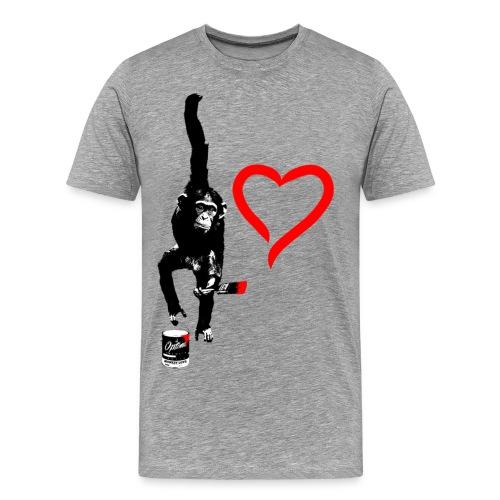 OLD SKOOL MONKEY LOVE - Men's Premium T-Shirt