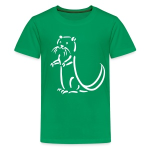 t-shirt otter beaver sea otter fish lake fishing river animal t-shirt - Kids' Premium T-Shirt
