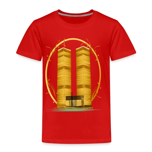 Twin Towers in Gold - Toddler Premium T-Shirt
