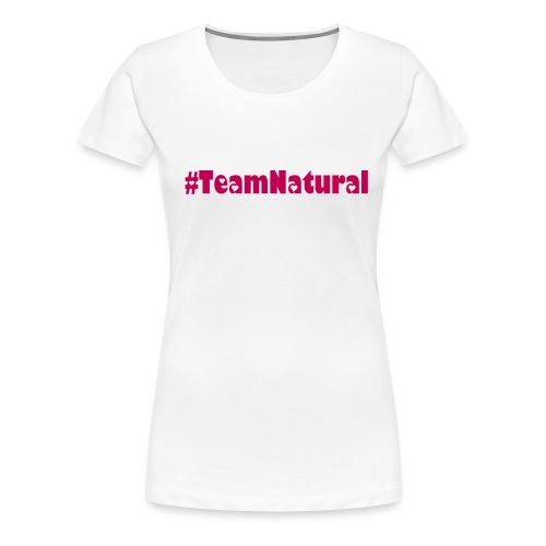 Plus Size #Team Natural Length Check Tee - Women's Premium T-Shirt