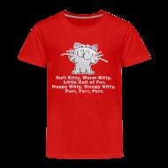 Baby & Toddler Shirts ~ Toddler Premium T-Shirt ~ SOFT KITTY WARM KITTY LITTLE BALL OF FUR... Little Toddler T-Shirt