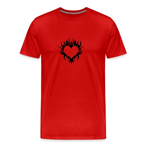 Burning Heart - Men's Premium T-Shirt