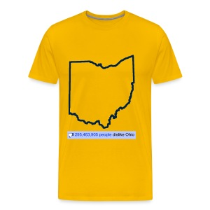 Dislike Ohio - Men's Premium T-Shirt