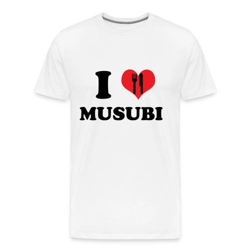 Heart/Eat Musubi M Hwt T - Men's Premium T-Shirt