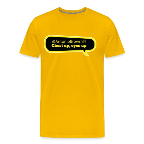 Chest up, eyes up - Men's Premium T-Shirt