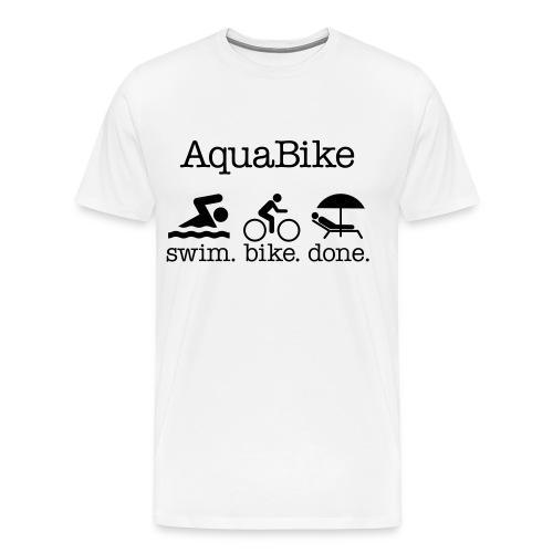 Aquabike Mens T-Shirt - Men's Premium T-Shirt