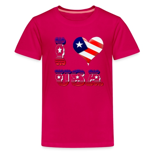 I Love USA - Kids' Premium T-Shirt