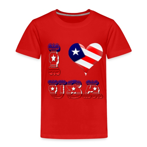 I Love USA - Toddler Premium T-Shirt
