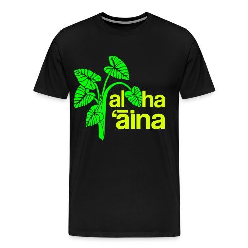 Aloha Aina - Neon 3XL - Men's Premium T-Shirt