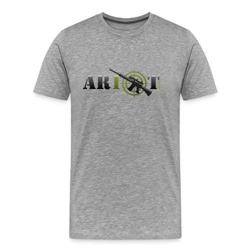 AR10T.com T-Shirt - Grey - Men's Premium T-Shirt
