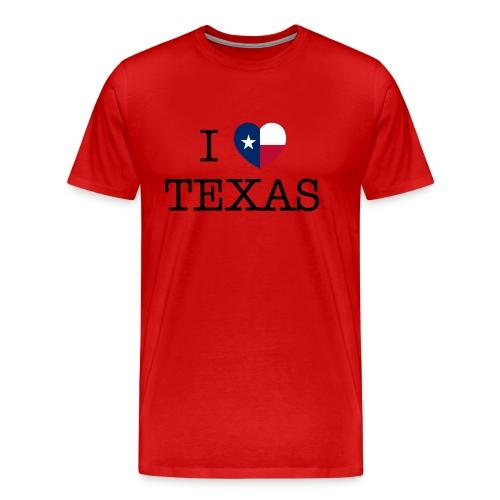 I Heart Texas - Men's Premium T-Shirt