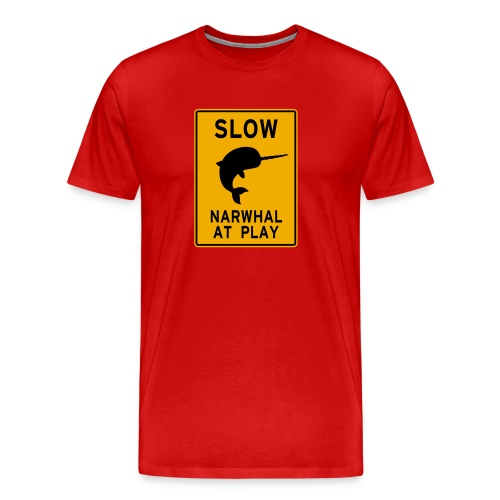 Narwhal at play - Men's Premium T-Shirt