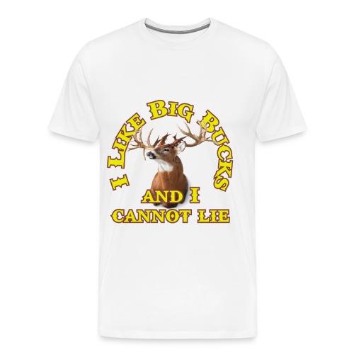 I Like Big Bucks Tee - Men's Premium T-Shirt