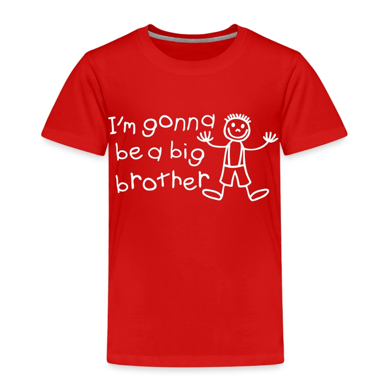 I 39 m gonna be a big brother t shirt spreadshirt for Big brother shirts for toddlers carters