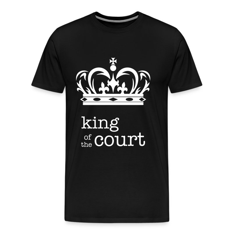 King of the Court Soccer T-Shirt Black and White - Men's Premium T-Shirt