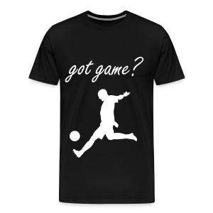 Got Game Soccer T-Shirt Black and White - Men's Premium T-Shirt