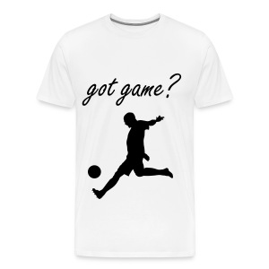 Got Game? Soccer T-Shirt White and Black - Men's Premium T-Shirt