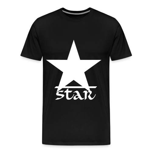 Star Series 1 Casual T-Shirt Black and White - Men's Premium T-Shirt