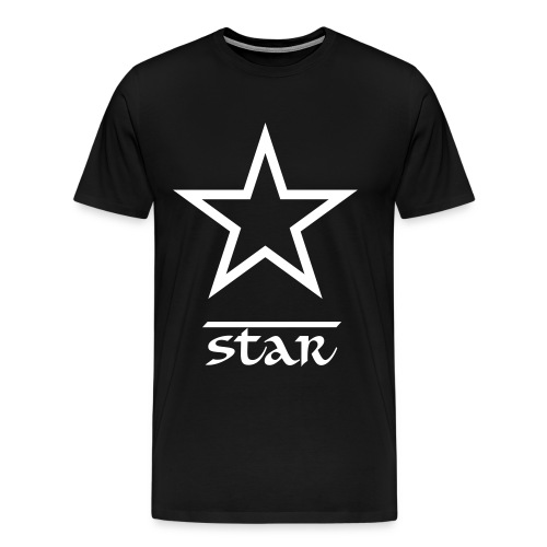 Star Casual T-Shirt Black and White - Men's Premium T-Shirt