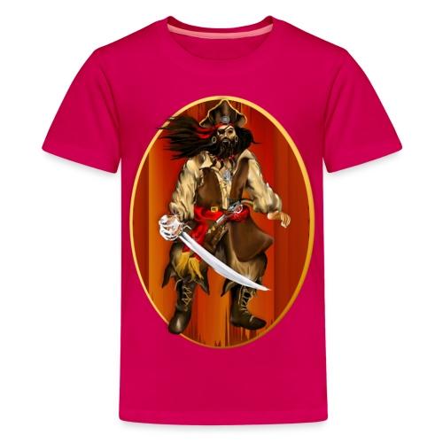 PIRATE Framed-Big 'n Bad - Kids' Premium T-Shirt