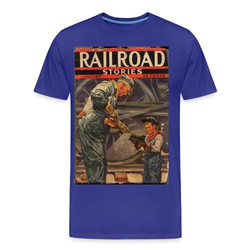 3XL Railroad Stories 1/37 - Men's Premium T-Shirt