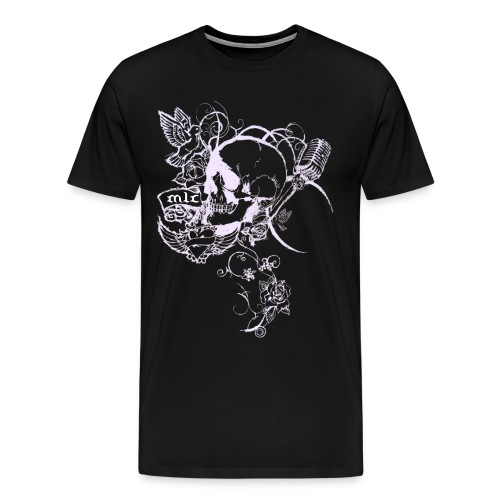 Skull/Vines Black - Men's Premium T-Shirt