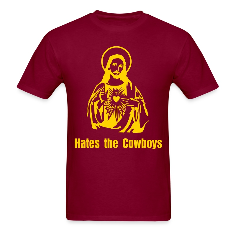 JC Hates The Cowboys Burgundy - Men's T-Shirt