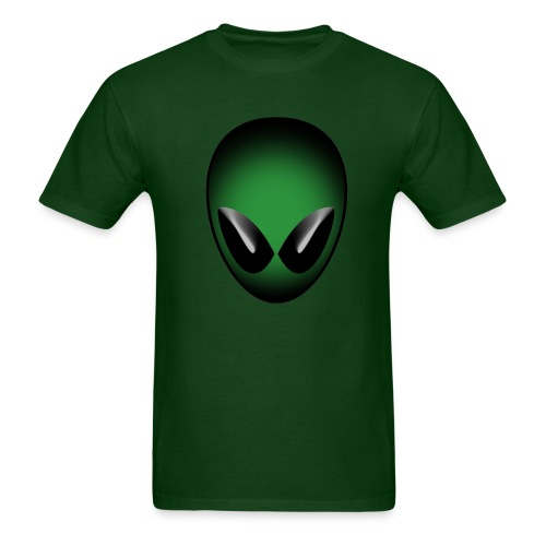 Green Alien Head - Men's T-Shirt
