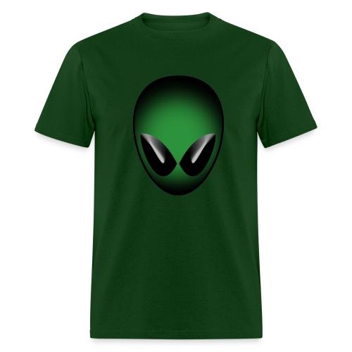 Green Alien Head - Men's T-Shirt