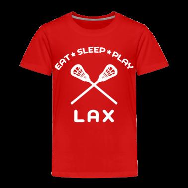 Eat, Sleep, Play Lacrosse Toddler Shirts