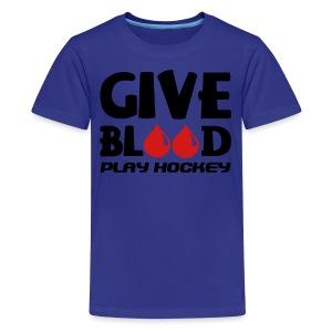 Give Blood Play Hockey Children's T-Shirt - Kids' Premium T-Shirt