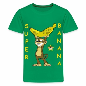 Monkey Pickles Super Banana - Kids' Premium T-Shirt