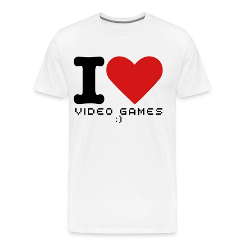I ♥ Video Games - Men's Premium T-Shirt