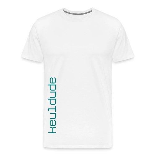 keuldude - Teal Text Shirt - Men's Premium T-Shirt