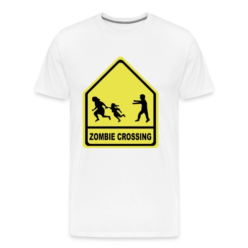 Zombee Crossing Cotton Tee - Men's Premium T-Shirt