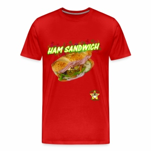 Monkey Pickles Big Ham Sandwich - Men's Premium T-Shirt