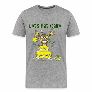 Monkey Pickles Big Cake Eater - Men's Premium T-Shirt